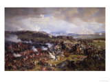 The Battle of Waterloo: British Squares Receiving the Charge of the French Cuirassiers