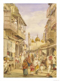 Crowded Street Scene in Lahore  India