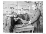 School For Fishing: Monk Shows How to Handle a Lobster  20th Century