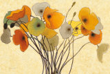 Pumpkin Poppies I Reproduction d'art par Shirley Novak