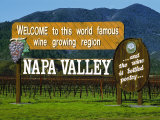 Welcome Sign  Napa Valley  California