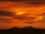 Brilliant Sunset over Spanish Peaks of Colorado