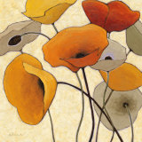 Pumpkin Poppies III Reproduction d'art par Shirley Novak
