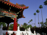Chinese Pavilion in Park  Riverside  California