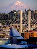Downtown and Mt Rainier  Tacoma  Washington