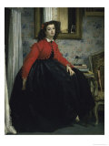 Young Woman in a Short Red Jacket