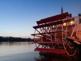 Paddlewheel Riverboat Julia Belle Swain on the Mississippi River  La Crosse  Wisconsin