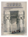 View from under the Portico of the Great Temple Ofdendera