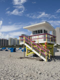 Beach Lifeguard Tower  South Beach  Miami  Florida