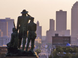Statue Overlooking the City  Des Moines  Iowa