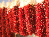 Chili Pepper Ristras  Santa Fe  New Mexico