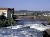 Spokane River with Spring Runoff  Spokane  Washington
