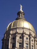 Gold Dome of the Capital Building  Savannah  Georgia