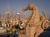 Seahorse Statue at the Santa Barbara Harbor  Santa Barbara  California