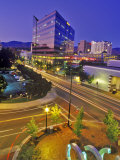 Nighttime Look at Downtown  Boise  Idaho
