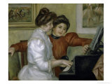 Yvonne and Christine Leroll at the Piano