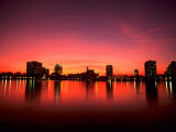 Sunset Skyline from Lake Eola  Orlando  Florida