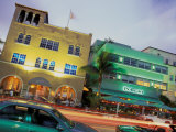 Art Deco Architecture and Palms  South Beach  Miami  Florida