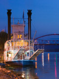 Paddlewheel Riverboat Julia Belle Swain on the Mississippi River  La Crosse  Wisconsin