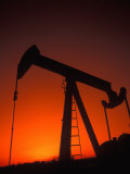Silhouette of Oil Pump Jack  Tulsa  Oklahoma