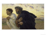 Disciples Peter and John Rushing to the Sepulcher  the Morning of the Resurrection