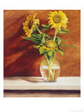 Sunflowers in a Glass Bowl