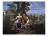 The Holy Family in a Landscape  17th century