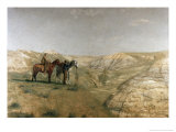 Cowboys in the Badlands  c1887