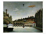 Landscape with Zeppelin  c1908