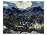 Olive Trees with the Alpilles in the Background Giclée par Vincent Van Gogh