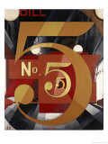 I Saw the Figure 5 in Gold Giclée par Charles Demuth