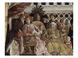 Detail of Camera Degli Sposi: the Court