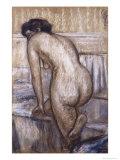 Le bain Giclée par Edgar Degas