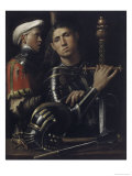Portrait of a Man in Armor with His Page