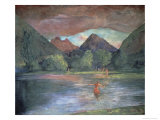 Afterglow  Tautira River  Tahiti