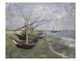 Fishing Boats on the Beachat Saintes  Maries