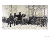 Washington Reviewing His Troops at Valley Forge Giclée par W. T. Trego
