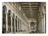 Interior of San Paolo Fuore Le Mure  Rome