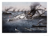 Sinking of the Battleship Victoria Off Tripoli  Syria  June 22 1893