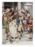 Here Comes the Bride  Wedding of Washington  c1759