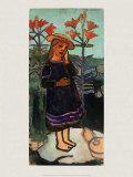 Elsbeth zwischen Feuerlilien