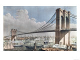 Great East River Suspension Bridge  Brooklyn  New York City  c1883