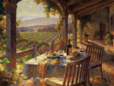 Wine Country Afternoon Reproduction d'art par Leon Roulette