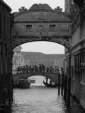 Canal with Bridge  Venice  Italy