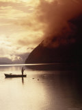 Fisherman at Sunrise  Lake Grundlsee