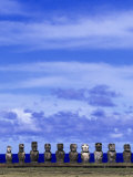 Moai at Ahu Tongariki  Easter Island  Chile
