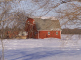 Barn and Snow Scene  Gimli  Manitoba