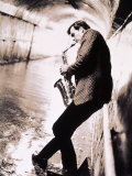 Saxophone Player in Tunnel