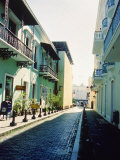Cobble Street Between Buildings  Puerto Rico