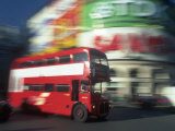 Bus in Motion  London  UK